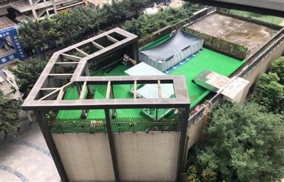 """宠物店楼顶建游泳池被要求整改 商户仍""""按兵不动"""""""