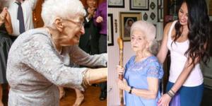 90岁老太练瑜伽治好了几十年驼背