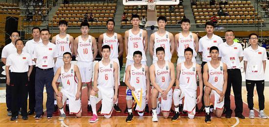 2017年东亚男篮锦标赛:国奥队全体合照