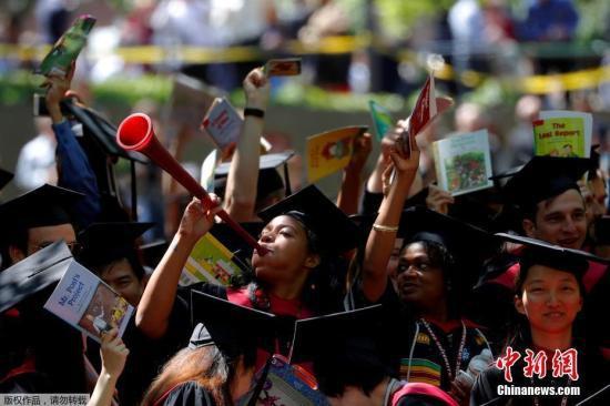 资料图:当地时间2018年5月24日,美国马萨诸塞州,哈佛大学举行毕业典礼