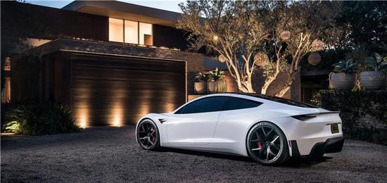 百公里加速1.9秒 特斯拉Roadster跑车官图发布
