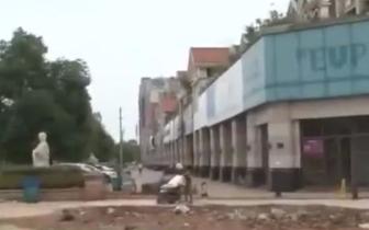欧巴罗广场|南昌欧巴罗广场门口景观被拆:建设违规还路于民