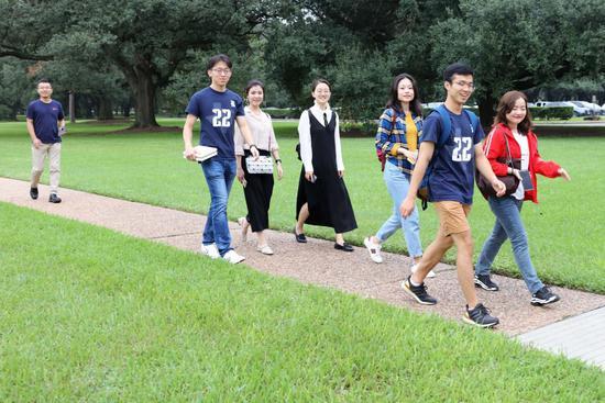 新东方名校探访队员们在莱斯大学
