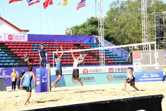 2018国际排联沙滩排球世界巡回赛扬州站资格赛开打