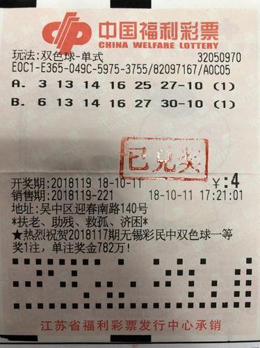 苏州吴中彩民中双色球二等奖11万元 中奖彩票始次曝光