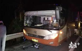 深汕|深汕高速陆丰段客车碰撞 事故导致4死4重伤