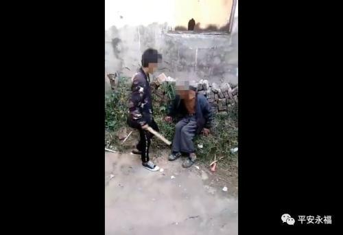 广西桂林多名少年围殴智残老人:只为寻刺激好玩