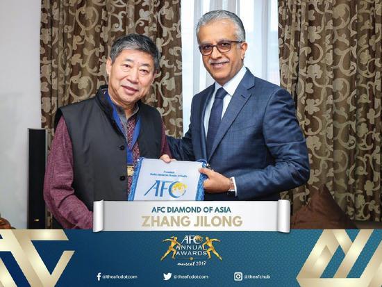 AFC颁奖:张吉龙获亚洲之钻 中国足协获草根激励奖