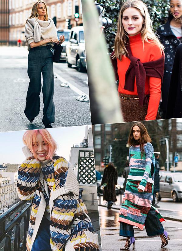 毛衣+毛衣的叠穿是2018秋冬搭配的新潮流