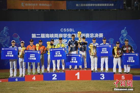 图为大学甲组获奖队员站上领奖台。中新社记者 陈文 摄