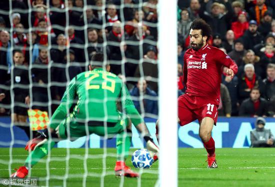欧冠-萨拉赫制胜破门!利物浦1-0那不勒斯惊险进16强