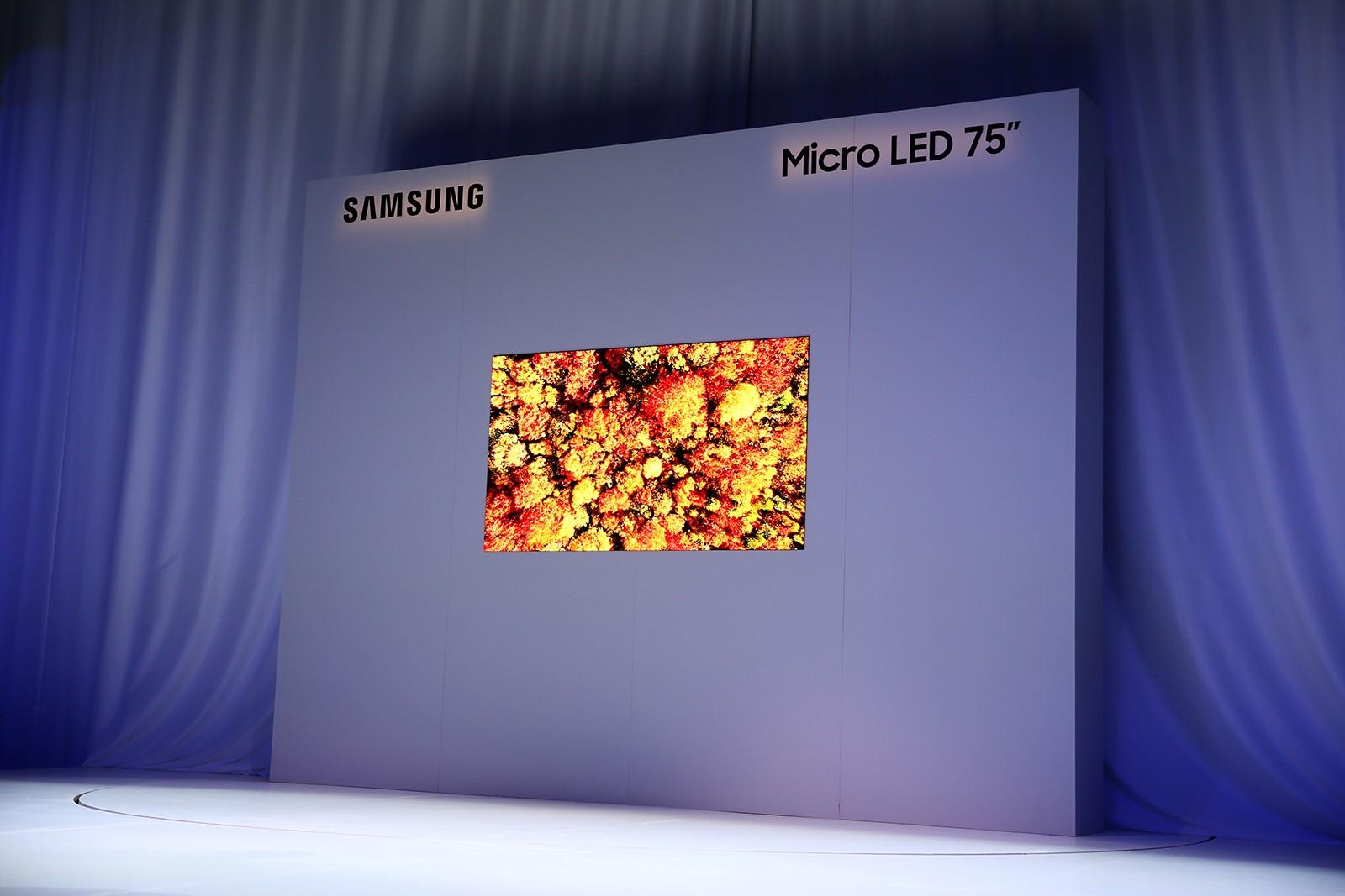 三星CES上展示模塊化MicroLED技術定制選擇更靈活