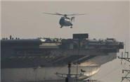 实拍国产航母起降直升机