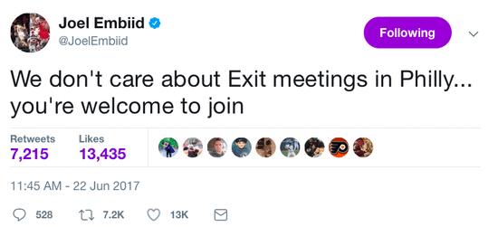 趁虛而入?恩比德喊話招募波神:我們費城歡迎你!