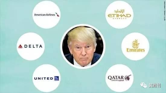 特朗普暗中出招遏制中东 拼爸爸美国航企能赢吗