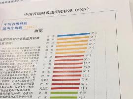 今年省级财政透明度报告:湖南排名全国第五