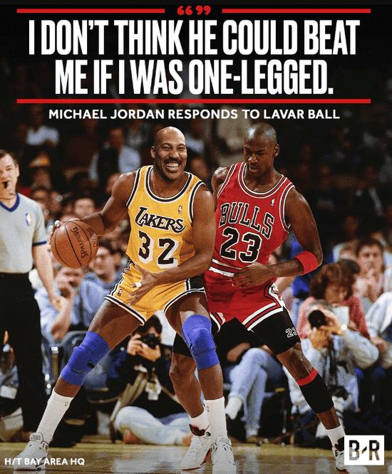 MJ:我1條腿就能幹掉球爹 球爹反嗆:我能獨臂滅你