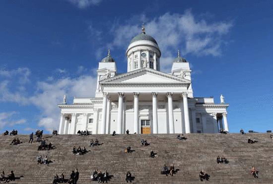 赫尔辛基白色教堂 (摄影:周成刚)