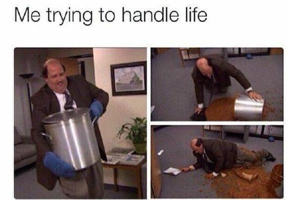 当我尝试去掌握生活