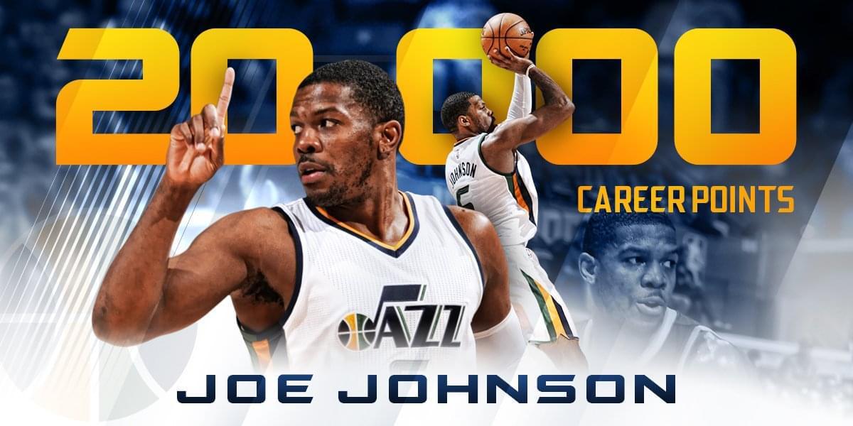 喬-約翰遜生涯得分破20000大關 成NBA歷史第42人