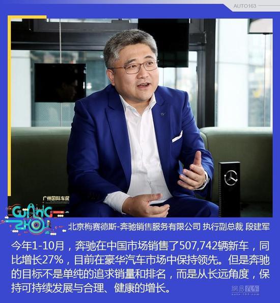 奔驰段建军:中国豪车市场还有较大发展空间