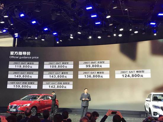 新款长安CS75上市 售价9.98—15.98万元