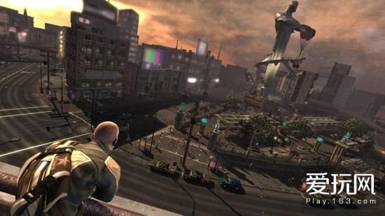 城市化作一片废墟