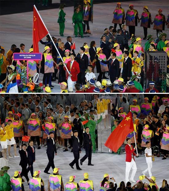 雷声在里约奥运会开幕式(图片来源于网络)
