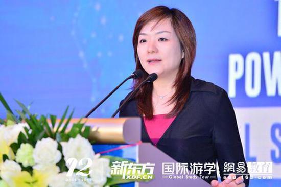 新东方教育集团助理副总裁,国际游学推广管理中心主任刘婷老师