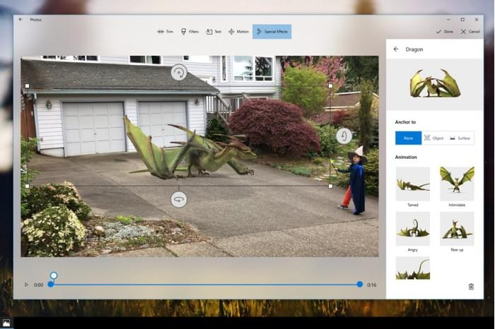 微软发布Windows 10 Story Remix视频编辑器的照片