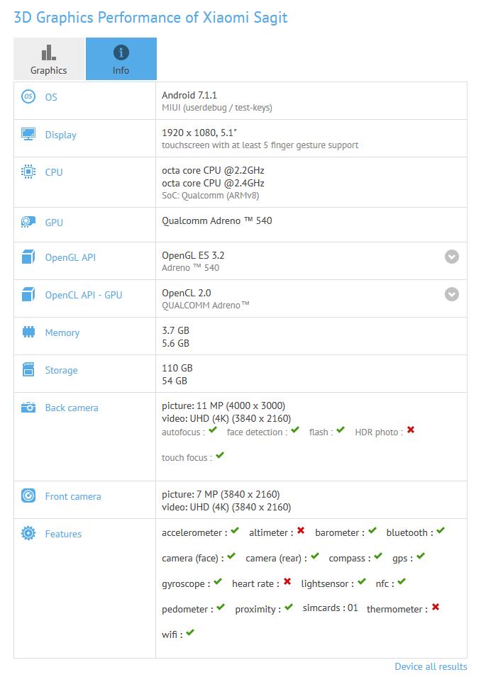小米6配置/跑分出炉:骁龙835+6GB