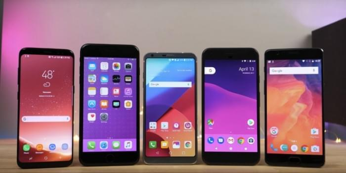 Galaxy S8/LG G6/iPhone 7 Plus/Google Pixel速度对比的照片