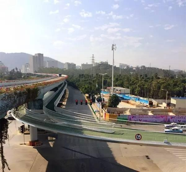 全国首条空中自行车道建成 全长7.6公里的照片 - 15