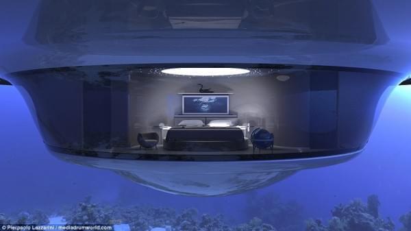 意设计师设计UFO形状游艇 两年后实现飞行功能的照片 - 11
