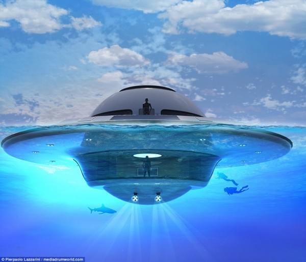 意设计师设计UFO形状游艇 两年后实现飞行功能的照片 - 12