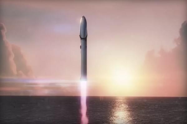 马斯克公布火星登陆巨型运载火箭:要重复利用1000次的照片 - 1