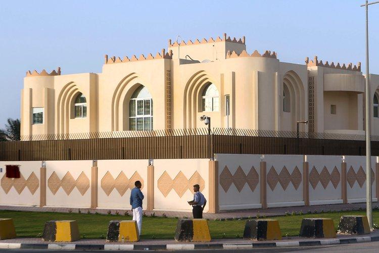 """阿富汗塔利班位于卡塔尔首都多哈的""""政治办公室"""" 美联社 图"""