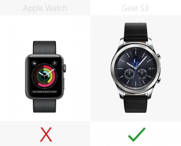 Apple Watch Series 2和三星Gear S3规格参数对比的照片 - 15
