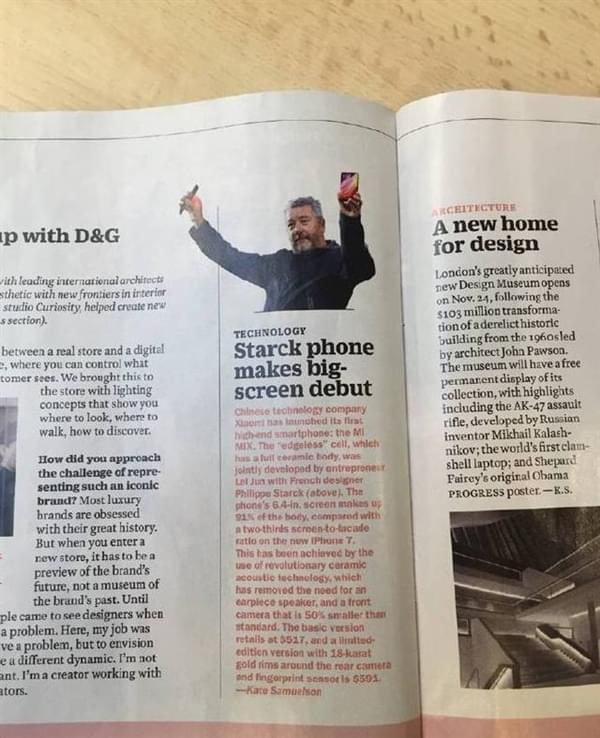小米MIX登上《时代周刊》:还是在特朗普当选这期的照片 - 2