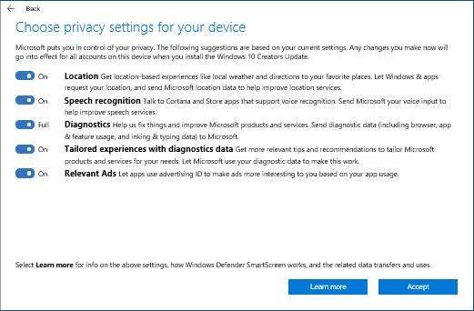 微软官博:Windows10创作者更新的隐私设置介绍的照片 - 2