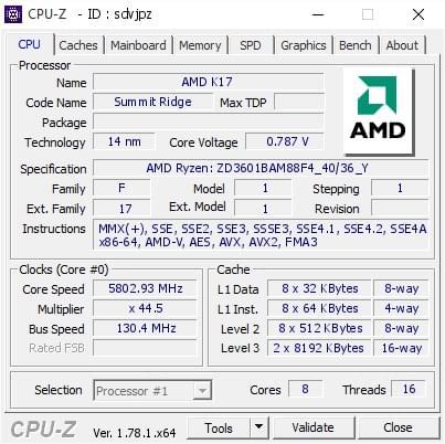 AMD锐龙1800x超频5.8GHz再创极限新纪录的照片 - 2