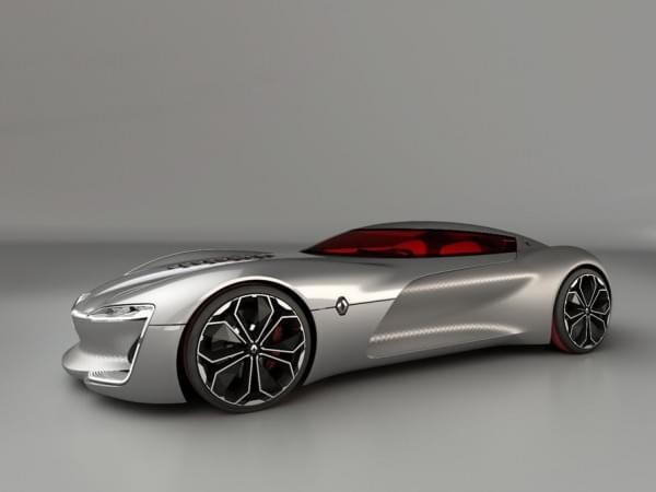雷诺发布Trezor概念电动超跑:使用蛤壳式车门的照片 - 27