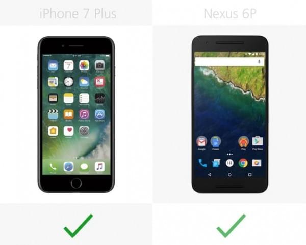 iPhone 7 Plus和Nexus 6P规格参数对比的照片 - 23