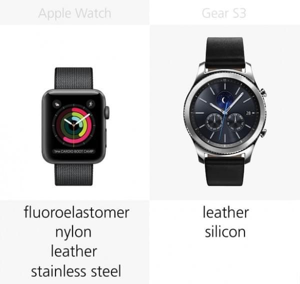Apple Watch Series 2和三星Gear S3规格参数对比的照片 - 5