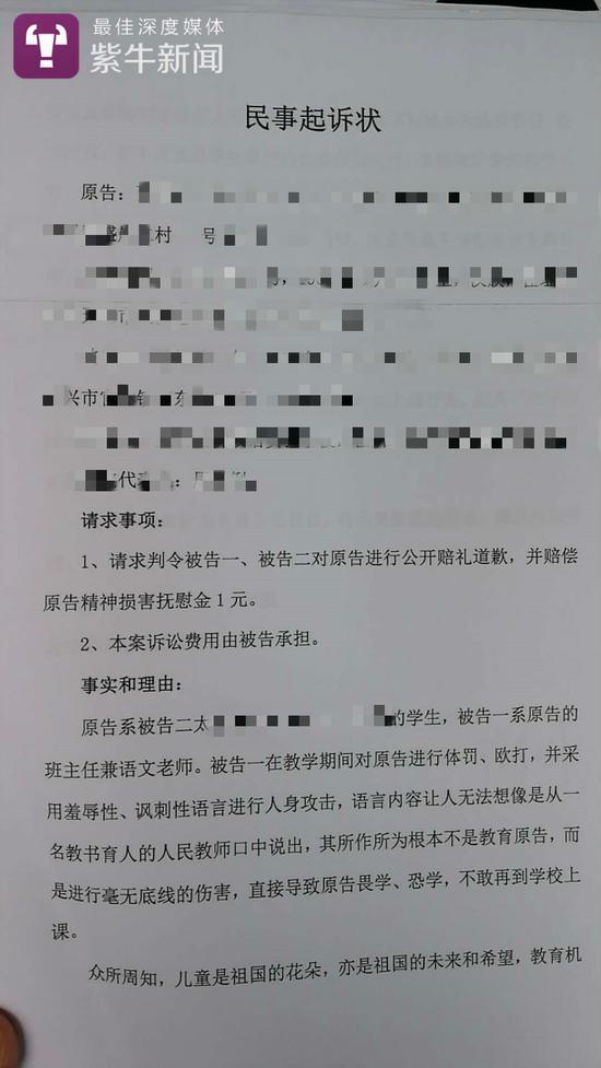 张先生提交的民事起诉状