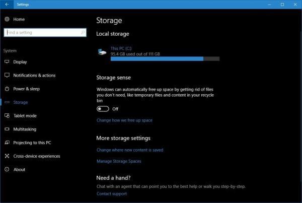 Windows 10 Creators Update:自动激活磁盘清理工具的照片 - 1