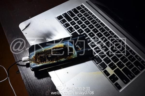 网友曝国行三星Note 7再次充电爆炸:刚买两天不到的照片 - 1