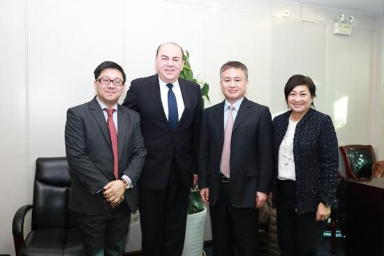 潘功胜局长会见瑞银集团全球董事会主席魏伯昂