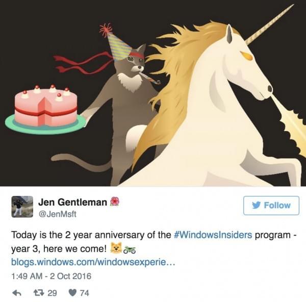 感谢有你:Windows 10 Insider Program项目诞生两周年的照片