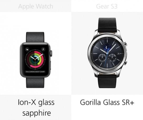 Apple Watch Series 2和三星Gear S3规格参数对比的照片 - 13
